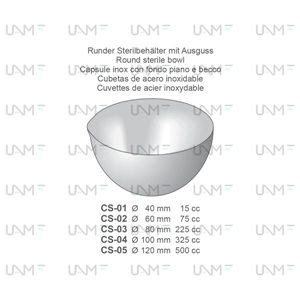 Round Sterile Sowl Stainless Steel Receptacles