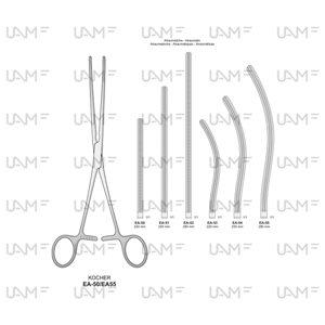 KOCHER Intestinal clamps soft elastic